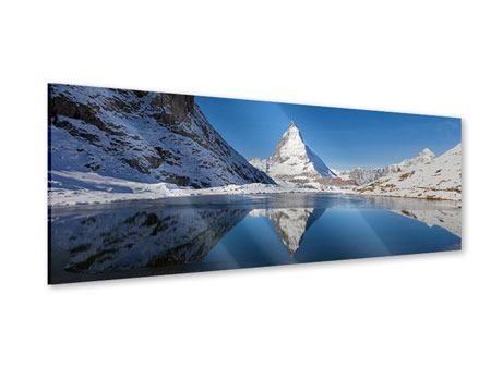 Panoramic Acrylic Print The Riffelsee On Matterhorn