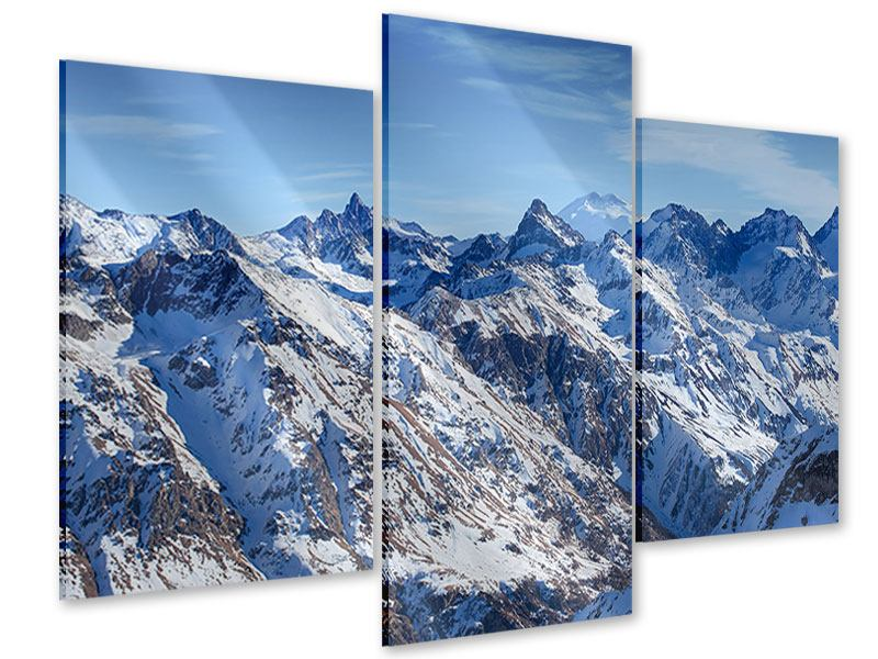 Modern 3 Piece Acrylic Print Summit Of The Mountains