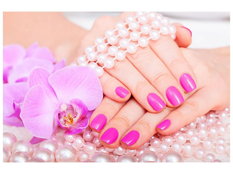 Acrylic Print Manicured Hands