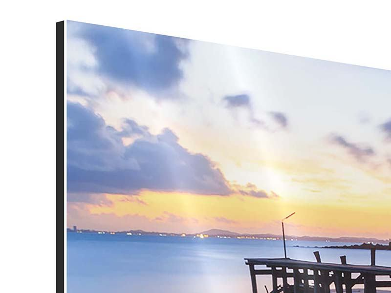 3 Piece Aluminium Print Island Dream
