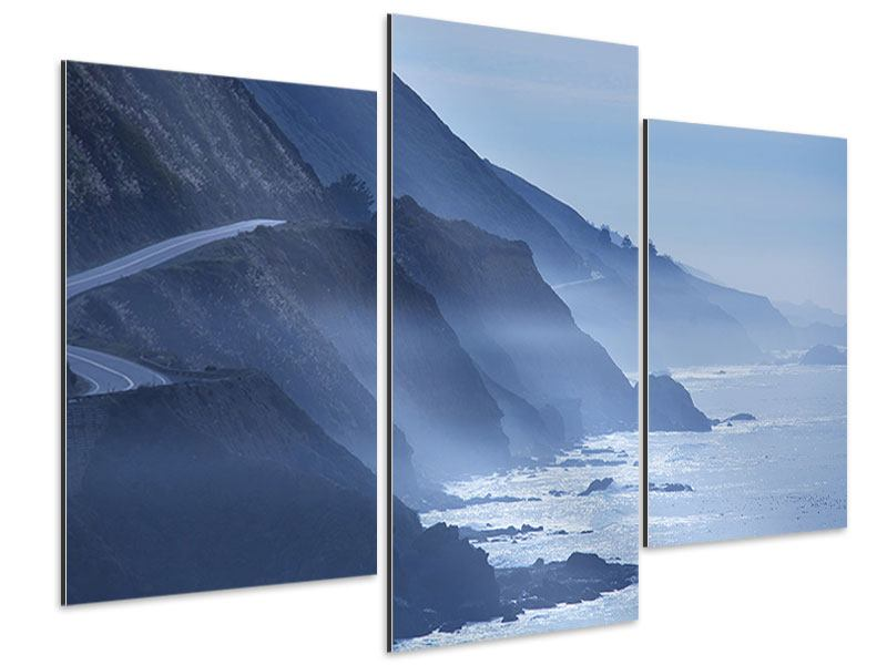 Modern 3 Piece Aluminium Print Movement In Water