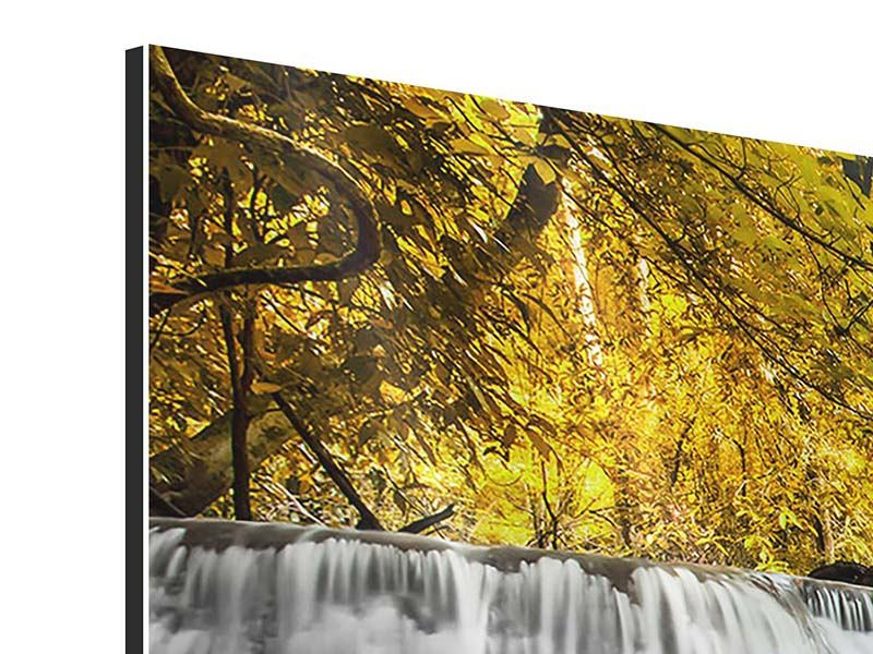 Modern 3 Piece Aluminium Print Water In Action