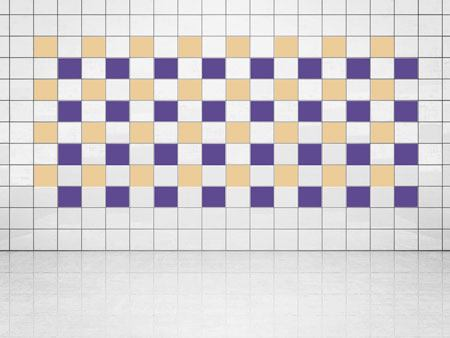 Tile Decor Violet (A717) and Cream (A719-01) Set of 20