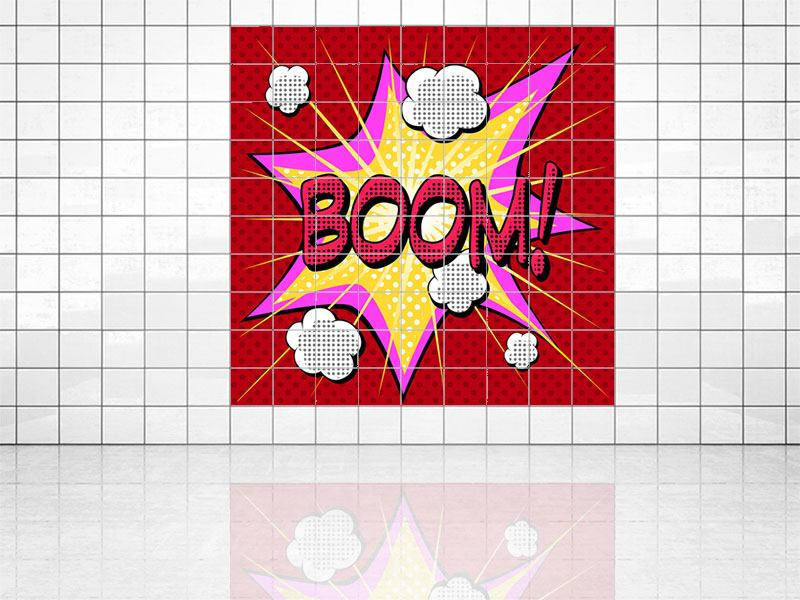 Impression pour Carrelage Boom Pop art