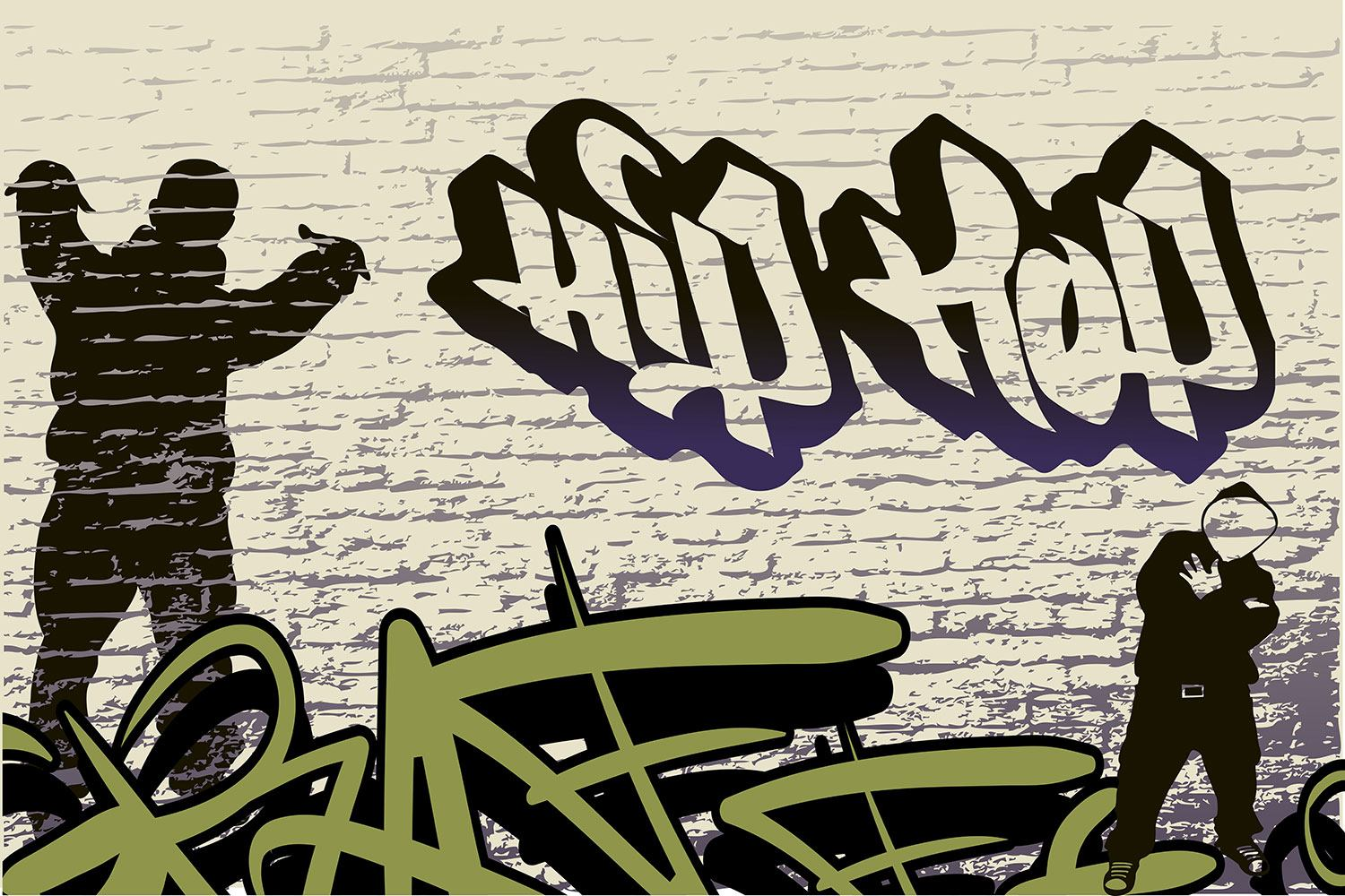 Impression pour Carrelage Graffiti Hip Hop