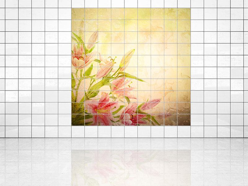 Tile Print Painting Lily