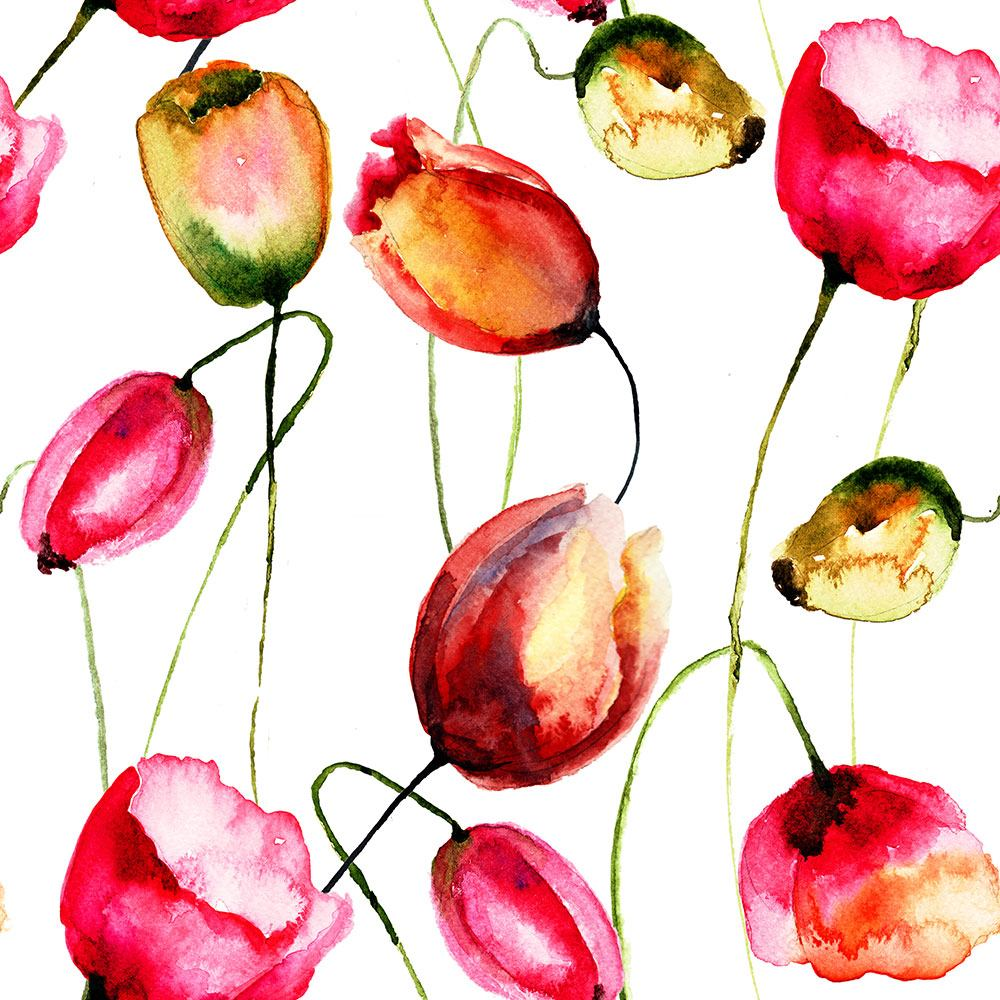 Tile Print Painting The Tulips