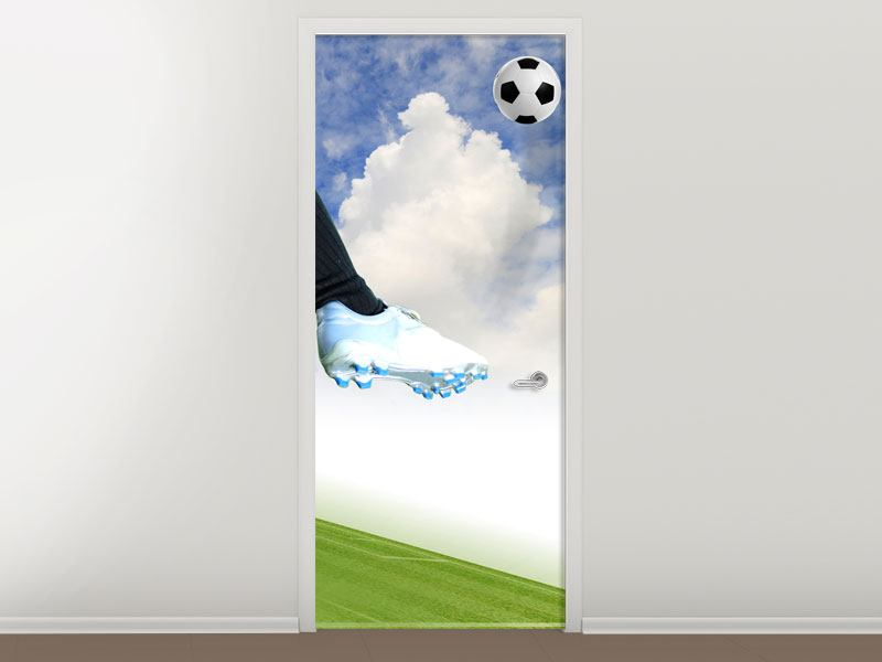 Door Mural Football Kicker