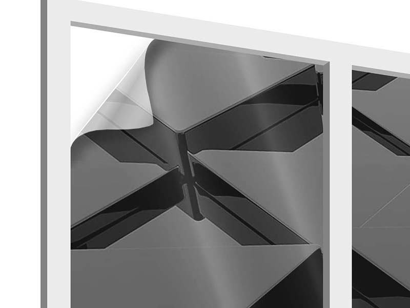 Vinilo para ventanas Superficies triangulares 3D