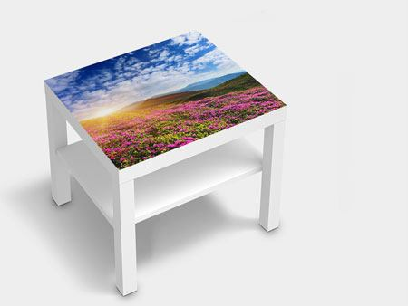 Furniture Foil Flowery Mountain Landscape