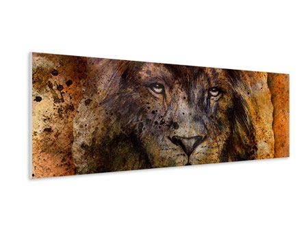 Panoramic Forex Print Portrait Of A Lion