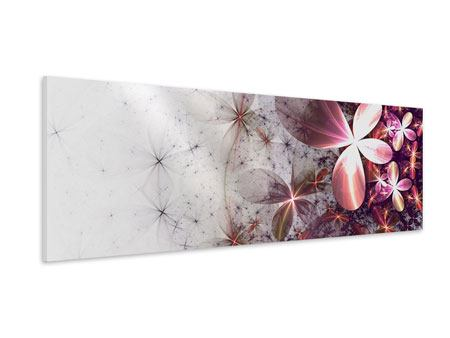 Panoramic Forex Print Abstract Floral