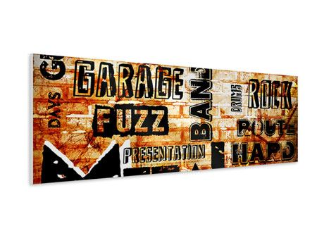 Panoramic Forex Print Rock In Grunge Style