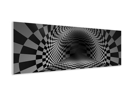 Panoramic Forex Print Abstract Chessboard