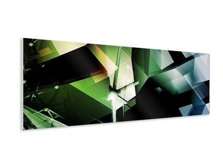 Panoramic Forex Print 3D Polygon