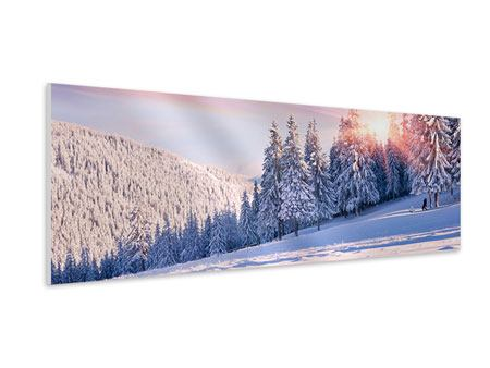 Panoramic Forex Print Winter Landscape