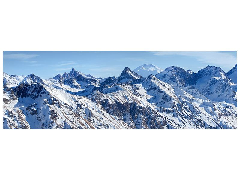 Panoramic Forex Print Summit Of The Mountains