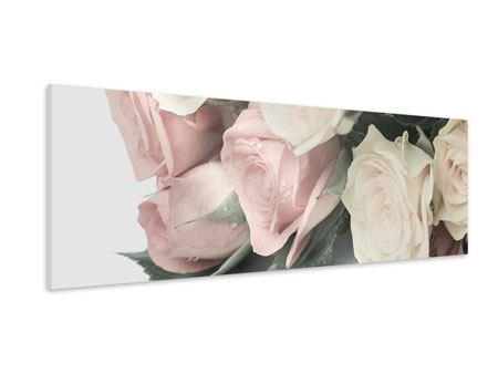 Panoramic Forex Print Romantic Rose