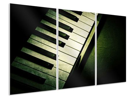 3 Piece Forex Print Close Up Piano
