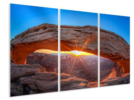 3 Piece Forex Print Sunset At Mesa Arch