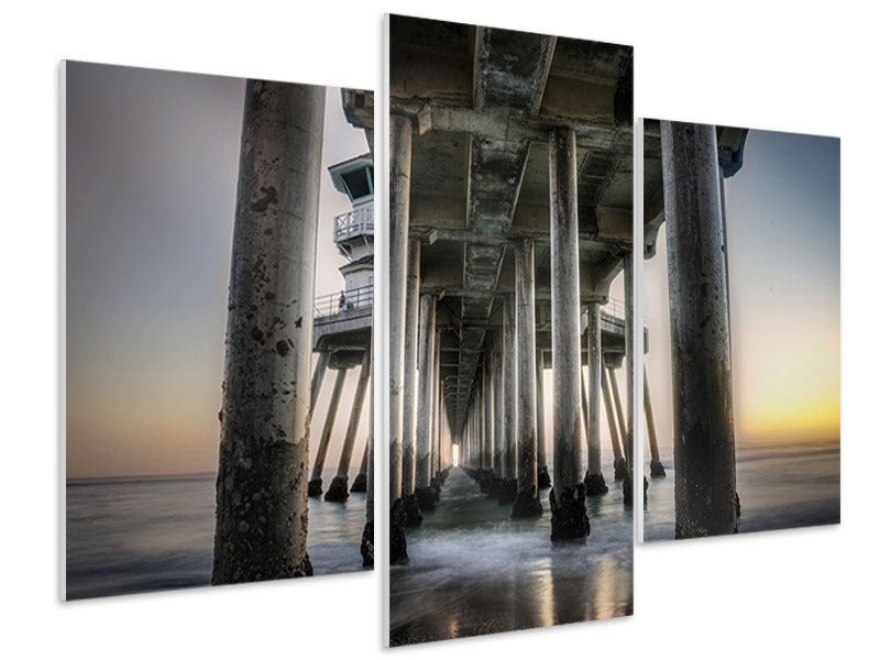 Modern 3 Piece Forex Print Bridge Piers