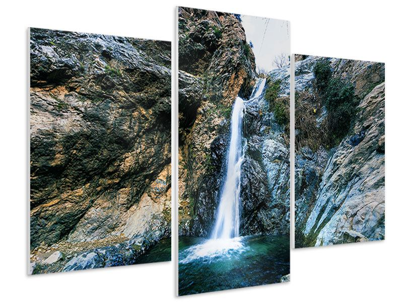 Modern 3 Piece Forex Print Moving Water