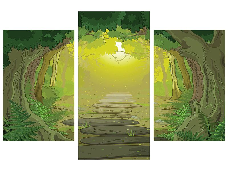 Modern 3 Piece Forex Print Fairy Tales Forest