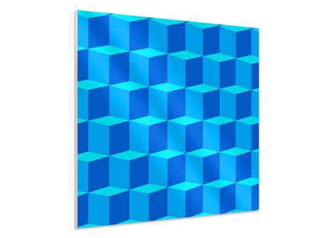 Forex Print 3D Cube Turquoise