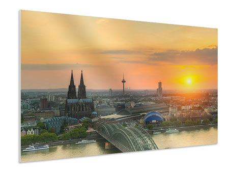 Forex Print Skyline Cologne At Sunset