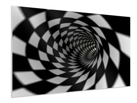 Forex Print Abstract Tunnel Black & White