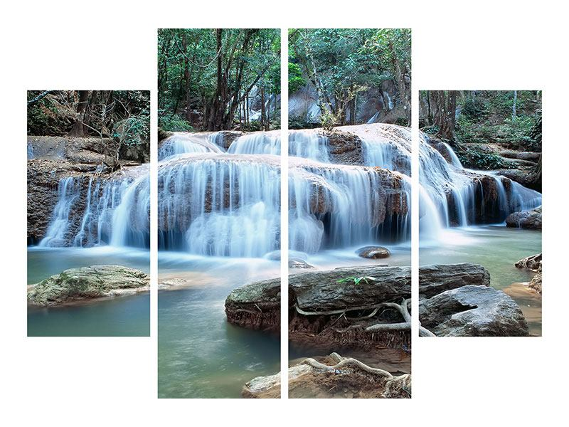 4 Piece Self-Adhesive Poster A Waterfall