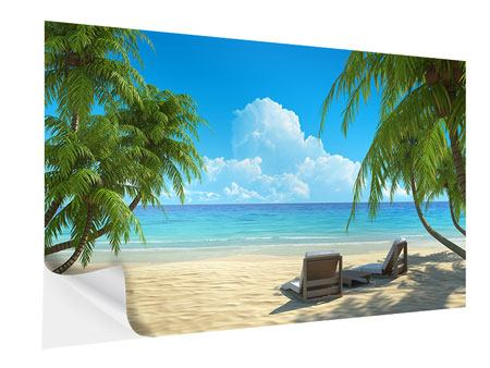 Self-Adhesive Poster Beach Paradise