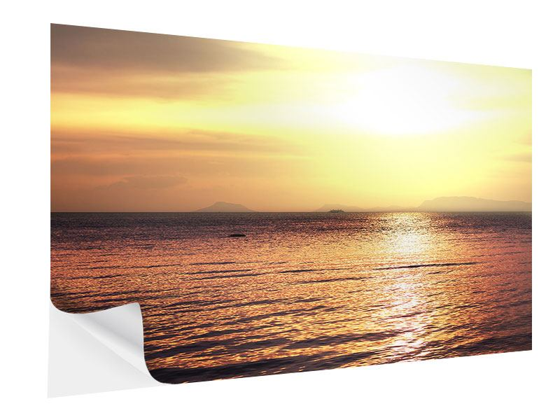 Self-Adhesive Poster Sunset At The Lake