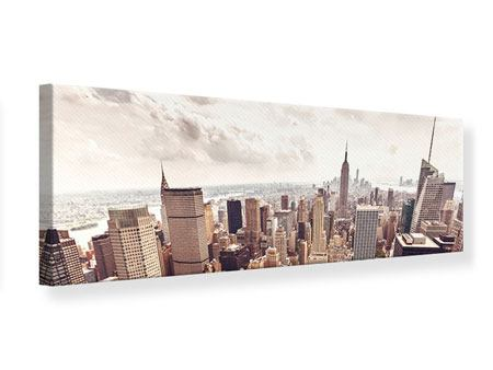 Panoramic Canvas Print Skyline Over The Roofs Of Manhattan