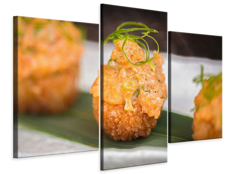 Modern 3 Piece Canvas Print Asian Cuisine