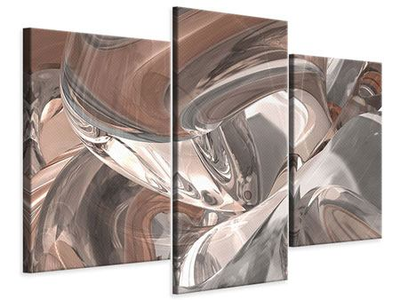 Modern 3 Piece Canvas Print Abstract Glass Tiles