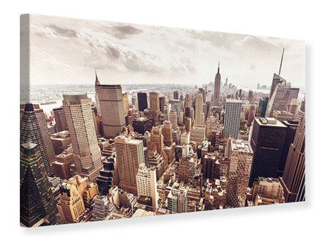 Canvas Print Skyline Over The Roofs Of Manhattan