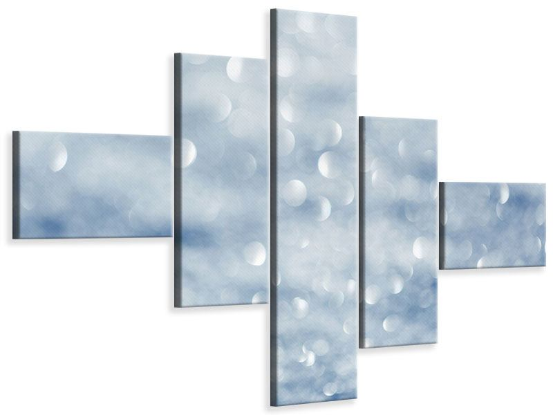 Modern 5 Piece Canvas Print Crystal Luster Effect