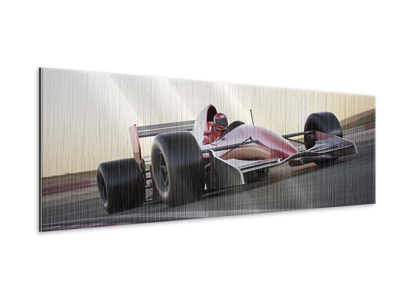 Panoramic Metallic Print Racetrack