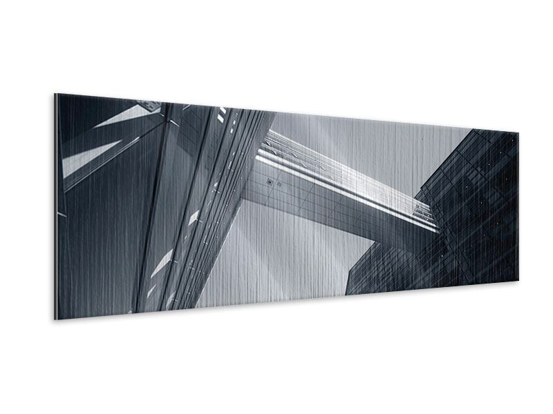Panoramic Metallic Print The Black Diamond In Copenhagen
