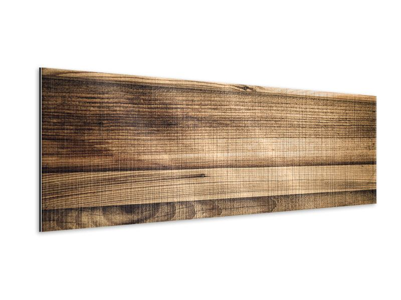 Panoramic Metallic Print Wood Trend