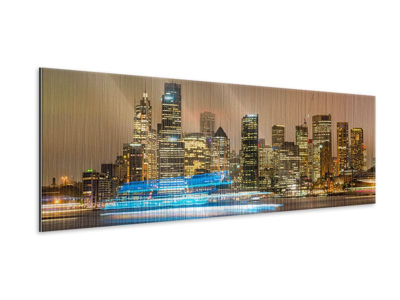 Panoramic Metallic Print Skyline Sydney At A Sea Of Lights