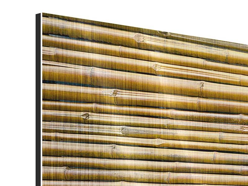 Panoramic 3 Piece Metallic Print Horizontal Bamboo Wall