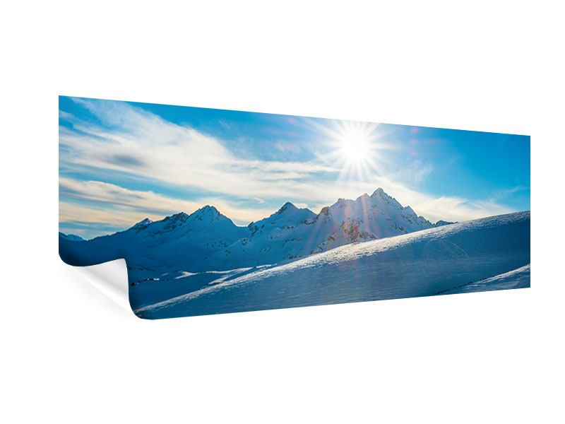 Panoramic Poster Winter's Tale In The Mountains