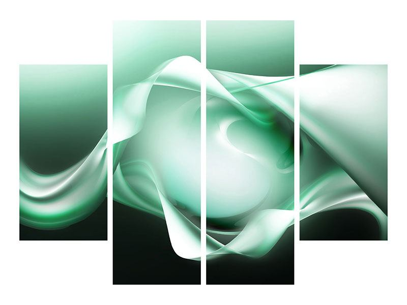 4 Piece Poster Abstract Close Contact