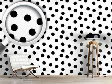 Design Wallpaper Coal Dots