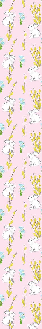 Carta da parati Easter Bunny And Flowering Willow