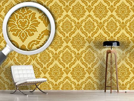 Papel tapiz de diseño Pop Baroque Gold