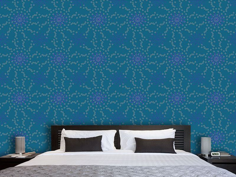 Design Wallpaper Dotted Flowers
