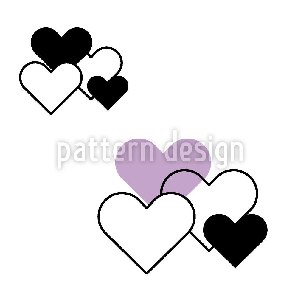 Papel tapiz de diseño Heavenly Hearts